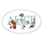 ALICE & FRIENDS Sticker (Oval 50 pk)