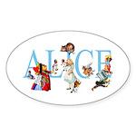 ALICE & FRIENDS Sticker (Oval)