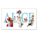 ALICE & FRIENDS Sticker (Rectangle 10 pk)