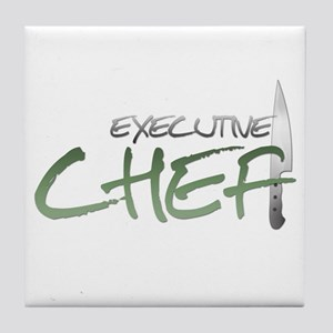 Green Executive Chef Tile Coaster
