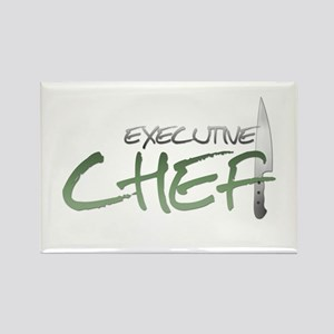 Green Executive Chef Rectangle Magnet
