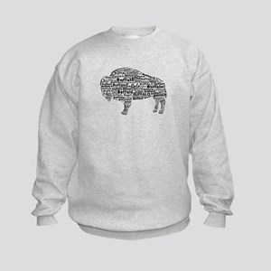 Buffalo Text Kids Sweatshirt