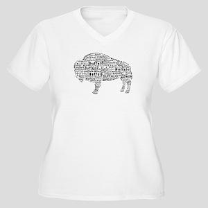 Buffalo Text Women's Plus Size V-Neck T-Shirt