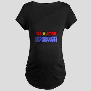 """All Star Microbiologist"" Maternity Dark T-Shirt"