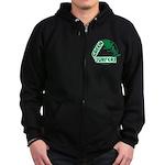 Green Surfers Zip Hoodie (dark)