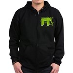 Elephant Facts Zip Hoodie (dark)