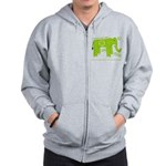 Elephant Facts Zip Hoodie