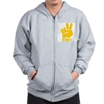 Peace It Out! Zip Hoodie