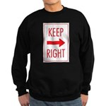 Keep Right Sweatshirt (dark)