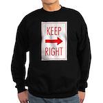Keep Right Sweatshirt (dark)