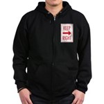 Keep Right Zip Hoodie (dark)