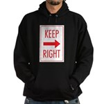 Keep Right Hoodie (dark)