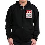 Stop Blocking Zip Hoodie (dark)