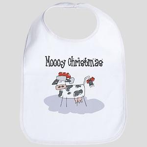 Moooy Christmas Bib