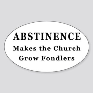 Abstinence Oval Sticker