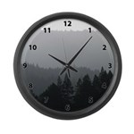 Foggy Trees Large Wall Clock