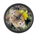 Butterfly on Flower Large Wall Clock
