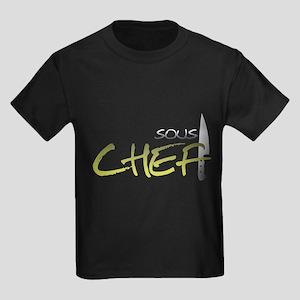 Yellow Sous Chef Kids Dark T-Shirt