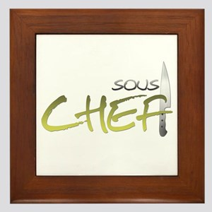 Yellow Sous Chef Framed Tile