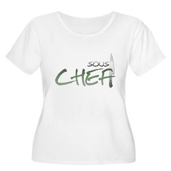 Green Sous Chef Women's Plus Size Scoop Neck T-Shi