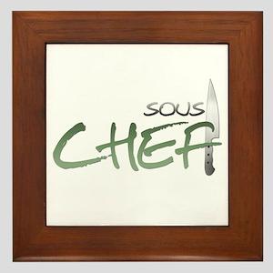 Green Sous Chef Framed Tile