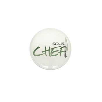 Green Sous Chef Mini Button (10 pack)