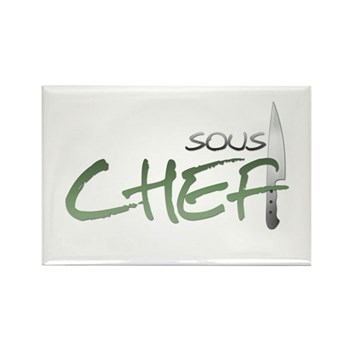 Green Sous Chef Rectangle Magnet