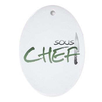 Green Sous Chef Oval Ornament