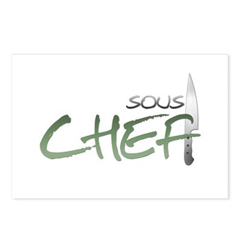 Green Sous Chef Postcards (Package of 8)