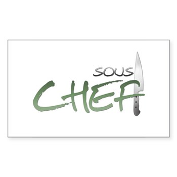 Green Sous Chef Rectangle Sticker