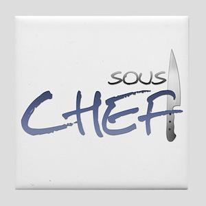 Blue Sous Chef Tile Coaster