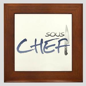 Blue Sous Chef Framed Tile