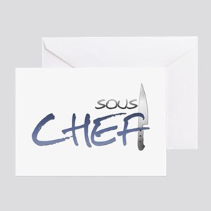 Blue Sous Chef Greeting Card