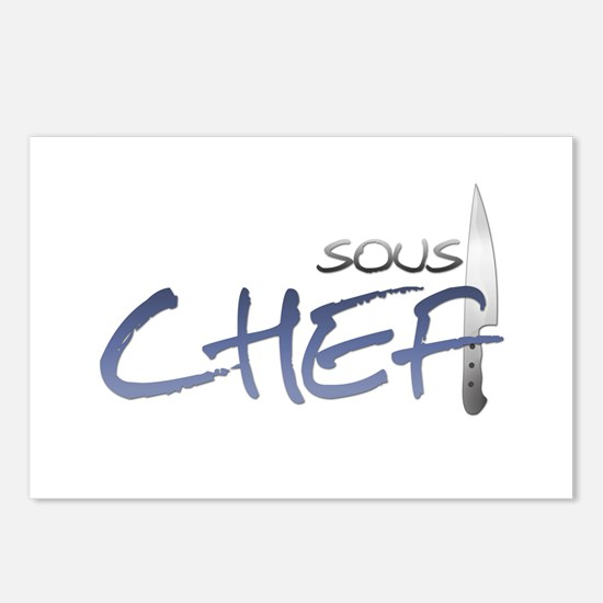Blue Sous Chef Postcards (Package of 8)