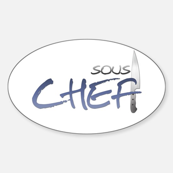 Blue Sous Chef Oval Decal