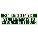 Save the Earth Anti-Liberal Bumper Sticker