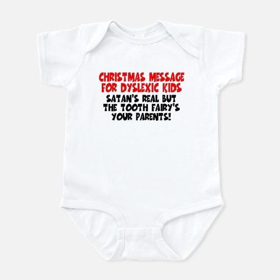 Christmas dyslexic joke Infant Bodysuit