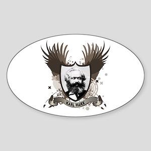 Karl Marx Oval Sticker