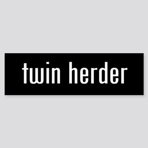 """twin herder"" Bumper Sticker"
