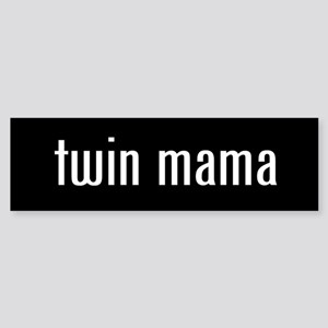 """twin mama"" Bumper Sticker"