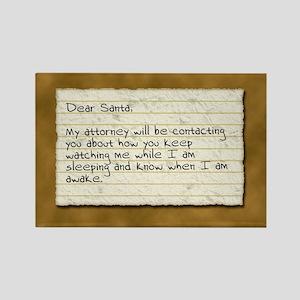 Santa Stalker Rectangle Magnet