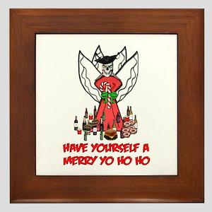 Pirate Christmas Angel Framed Tile