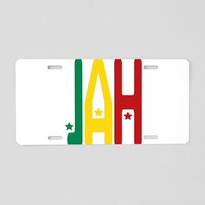 jah Aluminum License Plate