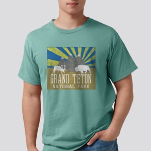 Grand Tetons National Park Blue Sunrise T-Shirt