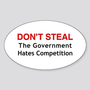 Don't Steal Oval Sticker