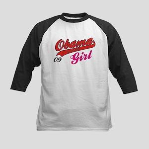 obama girl 09 Kids Baseball Jersey