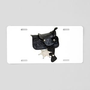 SheriffBadgeSaddle051009.pn Aluminum License Plate
