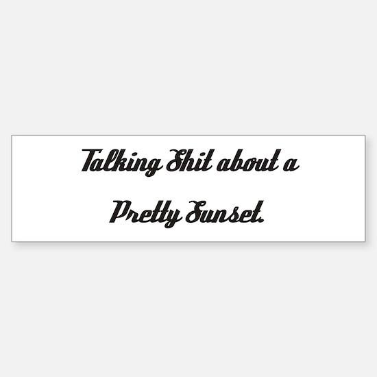 Talking Shit... Bumper Car Car Sticker