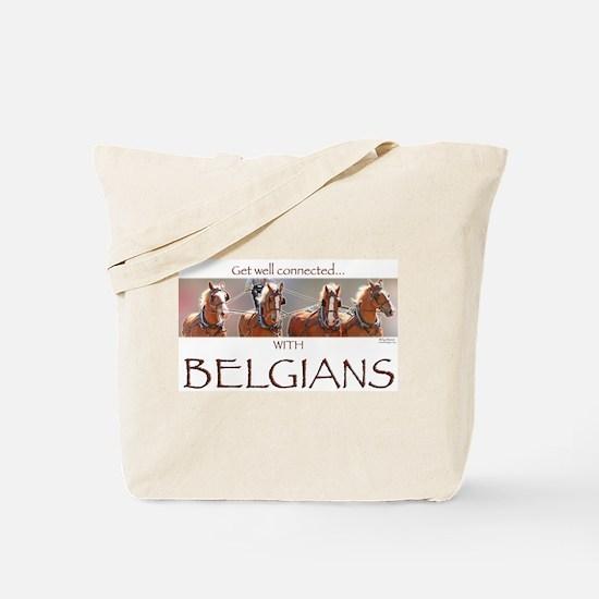 4 Abreast Belgians Tote Bag
