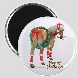 Christmas Draft Horse Belgian Magnet